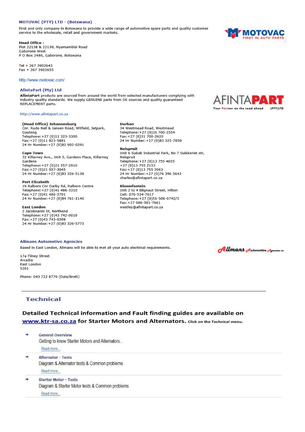 Ktr Sa Alternator And Starter Motor Wiring Diagram Additional Info On Starters Alternators Interesting Important Stuff To Know When Repairing Selling Testing Replacing Units